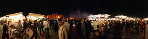 Place Djemaa El-Fna Square in Marrakech