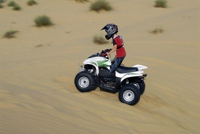 quad bike in the desert